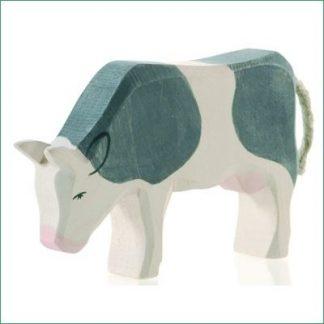 Ostheimer koe zwart-wit grazend